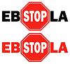 Векторный клипарт: 2 знак остановки вирус Эбола