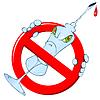 Векторный клипарт: Никаких признаков и шприцев наркотикам