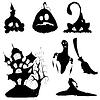Векторный клипарт: Хэллоуин, набор иконок