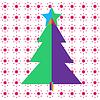크리스마스와 새해 플랫 스타일의 인사말 카드 | Stock Illustration