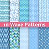 Wave (różne wzory bezszwowe Dachówka) | Stock Vector Graphics