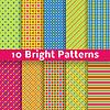 Abstrakcyjne geometryczne wzory (jasny bez szwu dachówka) | Stock Vector Graphics