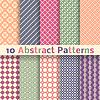 Retro abstrakcyjne bez szwu desenie (dachówka) | Stock Vector Graphics