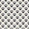 Nahtlose Tier Muster von Pfote Fußabdruck und Punkt