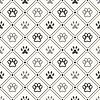 Vektor Cliparts: Nahtlose Tier Muster von Pfote Fußabdruck in Rahmen