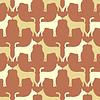 Tier nahtlose Muster von Hund Silhouetten