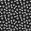 Tier nahtlose Muster der Pfote Fußabdruck und Knochen