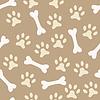 Vektor Cliparts: Tier nahtlose Muster der Pfote Fußabdruck und Knochen