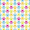 Vektor Cliparts: Tier nahtlose Muster der Pfote Fußabdruck. Endlos
