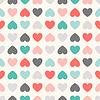 Nahtlose geometrische Muster mit Herzen