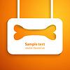 Applikation Knochen Symbol Rahmen. für glückliche Tier