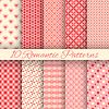 10 Romantyczny bez szwu desenie | Stock Vector Graphics