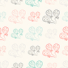 Szwu z balonów. Doodle styl vintage | Stock Vector Graphics
