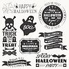 Satz von Halloween dekorativen Elementen