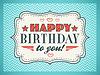Alles Gute zum Geburtstag Karte. Typografie Buchstaben Schriftart