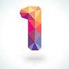 Nummer eins in den modernen Stil polygonale Kristall
