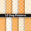 Set Hunde nahtlose Muster