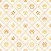 Tier nahtlose Muster der Pfote Fußabdruck, Linie und