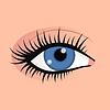 Otwórz kobieta oczy obraz pięknie mody mak | Stock Vector Graphics
