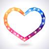 Romantyczny wielokątne serca ramki. za piękne | Stock Vector Graphics