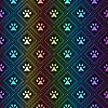Nahtlose Tier Spektrum Muster Pfote Fußabdruck