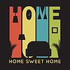 Karta do domu z ikon mieszkalnych, T-shirt grafika | Stock Vector Graphics