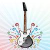 Векторный клипарт: Фон с электрической гитарой