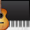 Векторный клипарт: Фон с фортепиано ключей