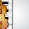 Векторный клипарт: Фон со скрипкой