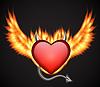 Векторный клипарт: Демонический сердце