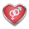 Векторный клипарт: Сердце с пола символов