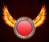 Векторный клипарт: Щит с пожарной крыльями