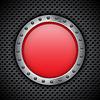 Векторный клипарт: Красная кнопка хром
