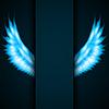 Векторный клипарт: Фон с пожарной крыльями