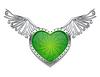 Векторный клипарт: Сердце с металлическими крыльями