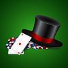 Векторный клипарт: Hat и фишки казино