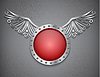 Векторный клипарт: Щит с металлическими крыльями