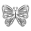Векторный клипарт: тату с бабочкой