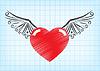 Векторный клипарт: Сердце с крыльями