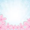Векторный клипарт: Розовый цветок на синем фоне