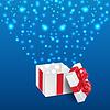 Векторный клипарт: Фон с подарком