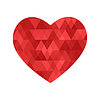 Векторный клипарт: Текстурированные сердца