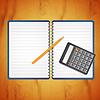 Векторный клипарт: Калькулятор с карандашом