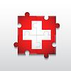 Векторный клипарт: Головоломка с медицинской креста