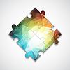 Векторный клипарт: многоугольной фоне