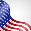 Векторный клипарт: Фон с американским флагом