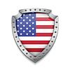 Щит с американским флагом | Векторный клипарт