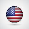 Векторный клипарт: Глянцевая сфера с американским флагом