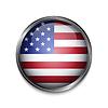 Векторный клипарт: Кнопка с американским флагом