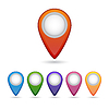 Векторный клипарт: указатели для карты